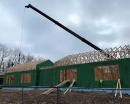 The walls are up!